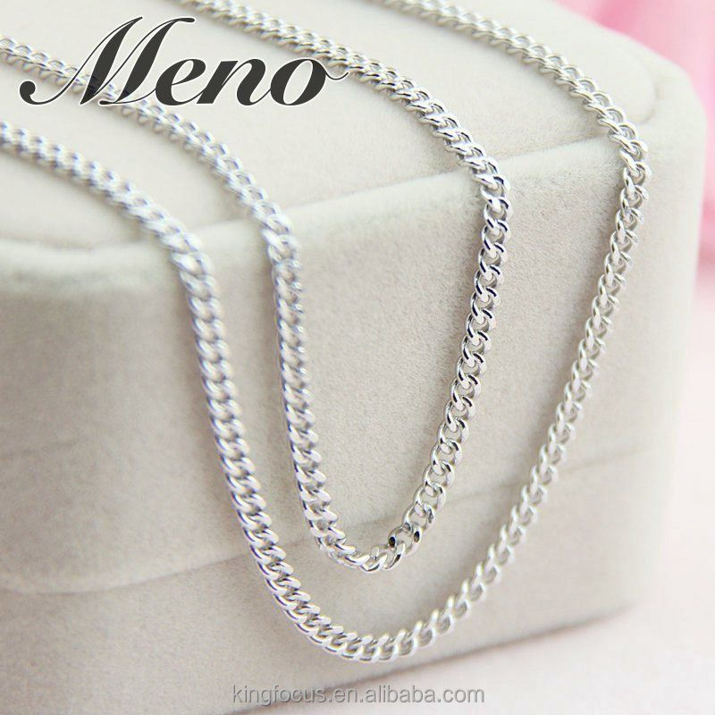 Meno S925 silver necklace lady gift Japanese Korean style machine cutnewest newest jewelry
