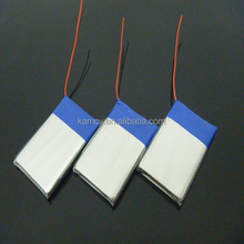 Hot sale rechargeable lipo battery 3.7V 900mAh for MP3 / Prismatic lipo battery cell with PCB