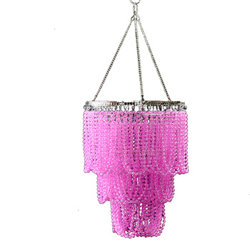 Home decoration plastic sphere bead lampshade