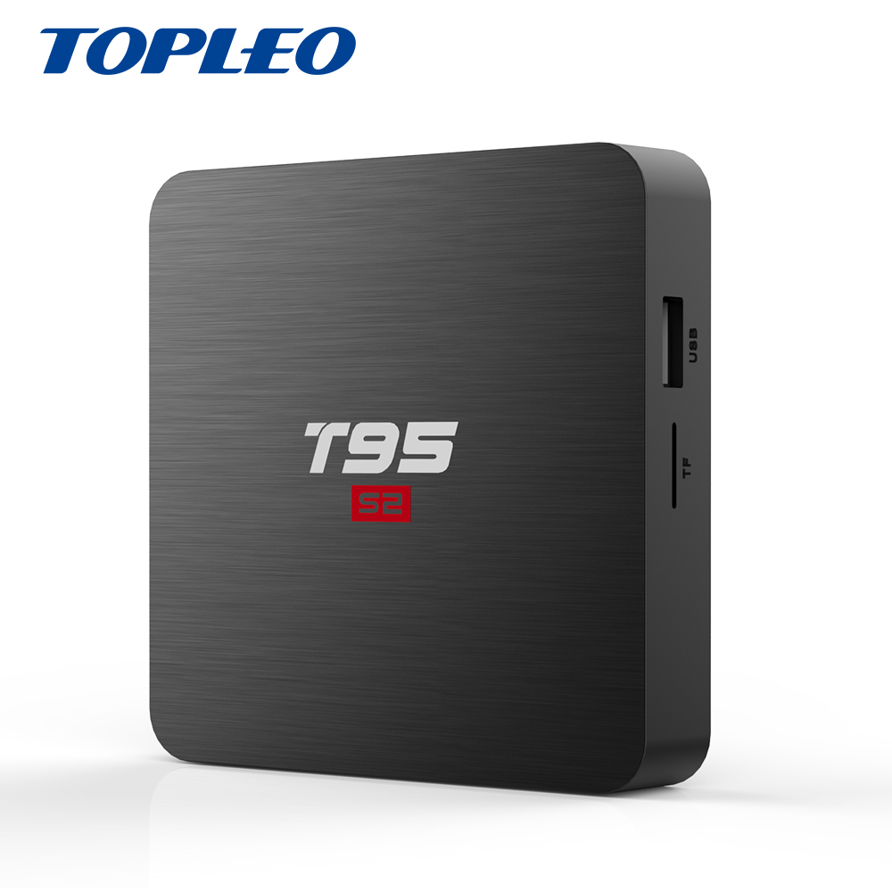 Wholesale T95 S2 KD 18.0 10/100M RJ-45 2.4G WIFI world internet Amlogic S905W Quad core tv android box фото