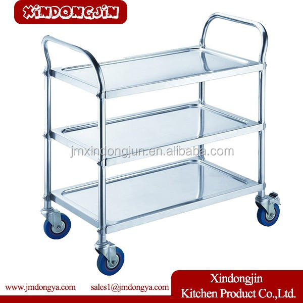 PRC-S3 Dining room meal transport trolley /restaurant food trolley cart/kitchen service trolley