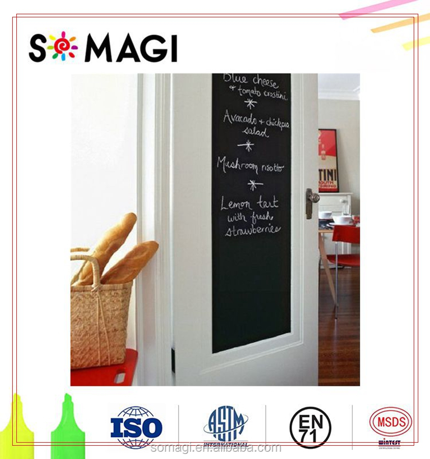 NEW Premium Black Chalkboard Adhesive Wall Contact Paper Sticky Sticker Roll 18 * 78 Inchs