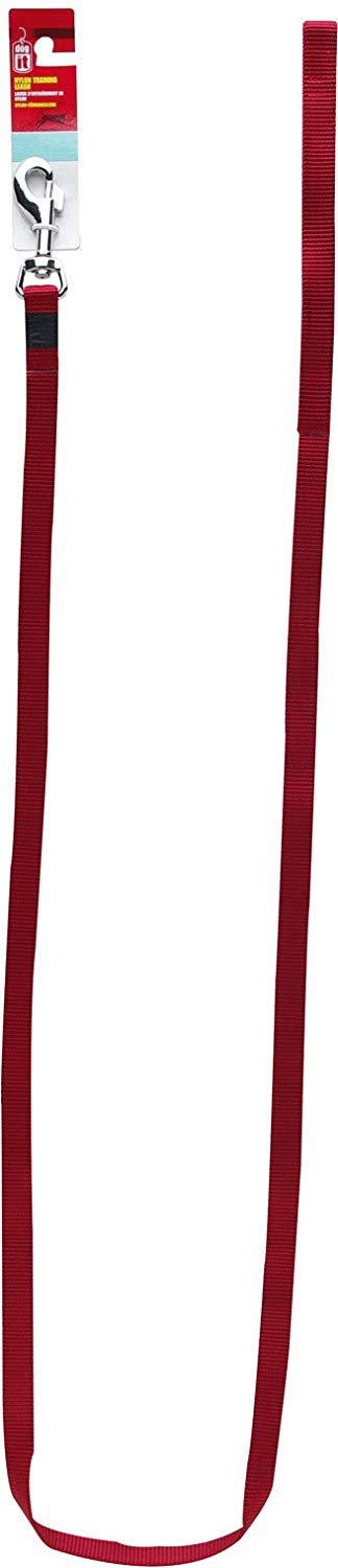 Dogit Nylon Single Ply Training Dog Leash, Medium, Red