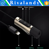 Two in one Audio + Charging Cable Adapter For iPhone 7 7 Plus to 3.5MM Jack Charger Earphone Headset Converter Connector