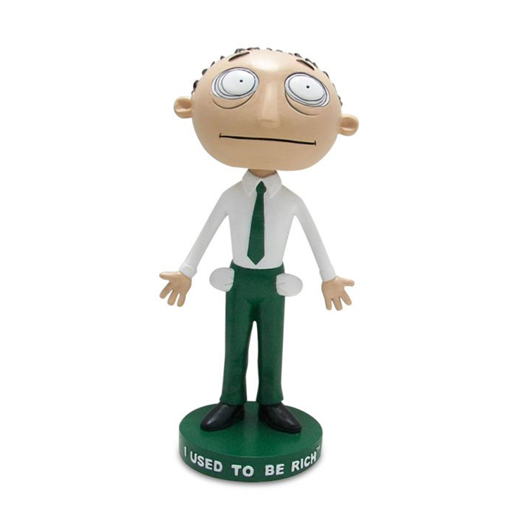 Aangepaste bobble head poppen, grappige hars bobble head