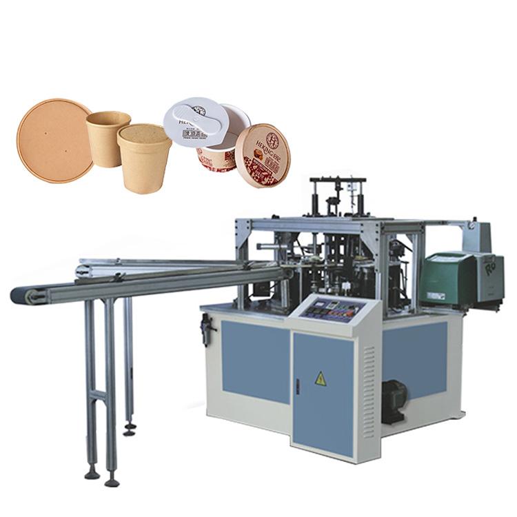 Alta velocidade automático cheio do copo de papel tigela tampa que faz a máquina