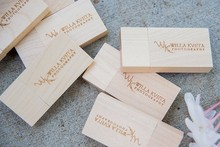 Bulk Wooden Pendrives for 1GB Usb key with Printed Logo