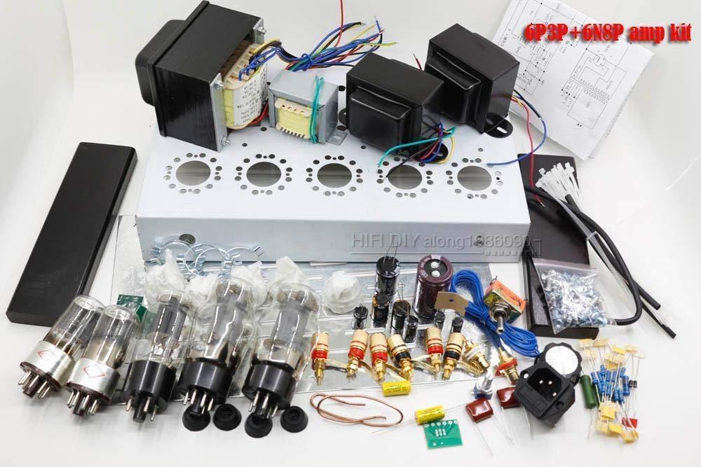 FidgetFidget Power Amplifier Kit DIY Tube Amplifier Kit 6L6 + 6N8P Single Ended Tube