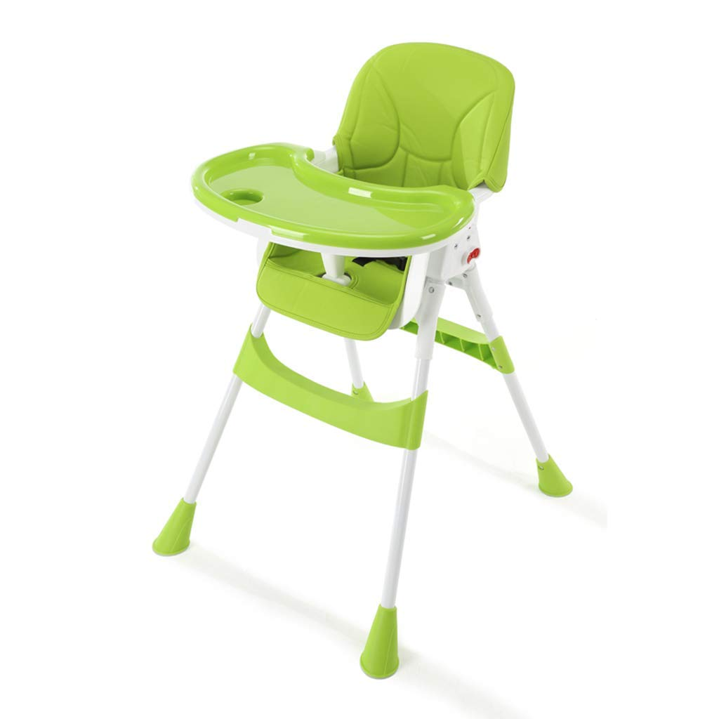 Desk Chairs Snack Booster Seat Children's Dining Chair Multifunctional Baby Dinette Portable Collapsible Baby Eat Chair Seat (Color : Green)