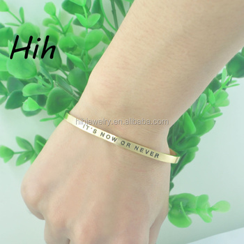 Professional Engraved Bangles Suppliers Adjule Inspirational Quotes Bracelets Las Jewellery