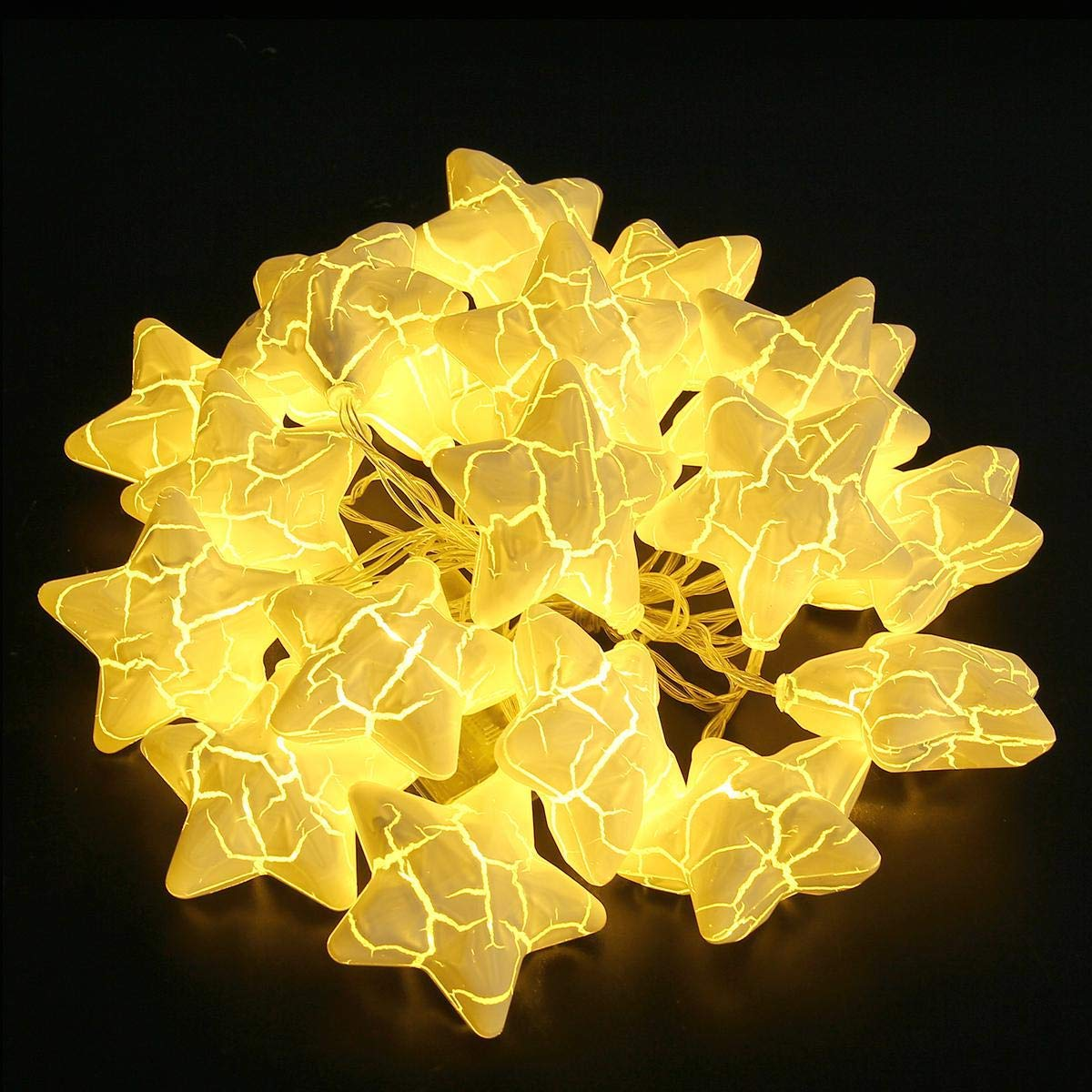 Get Quotations 20 Led Star String Lights Battery Operared Kids Room Decor,umiwe Starry Shape Fairy