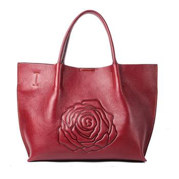 Hot 2018 Import China Goods Genuine Soft Pebble Leather Handbags Las Bags Handbag