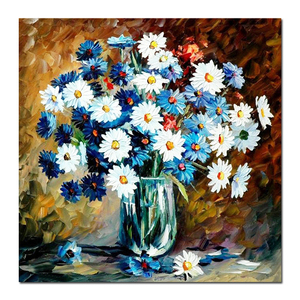 Handmade Modern Canvas Flower Oil Painting Color For Sale