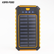 Factory wholesales Solar power bank portable battery charger 20000mah