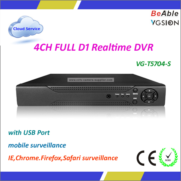 4 Channel USB DVR Driver H 264 Network DVR Software
