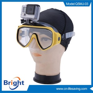 Adult scuba diving mask with camera mount scuba mask gopro mount fit hero 1,2,3