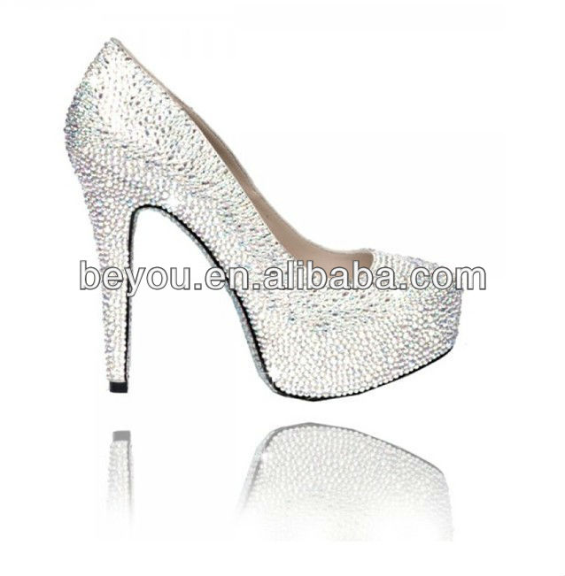 Bling Pump Sparkling Silver Crystal High Venus Shoes Heel Diamante Stiletto tTSAw