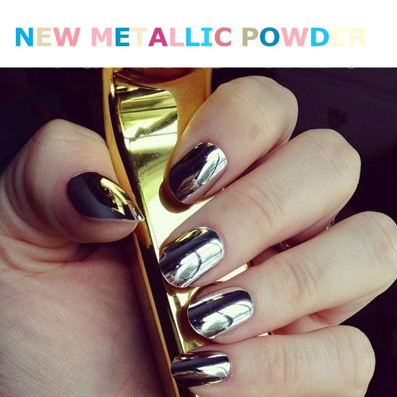 Organic Pigment Style Nail Magic Metallic Mirror Pigment Powder For ...