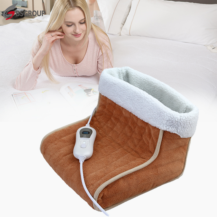 New comfortable microplush cover electric pad foot warmer