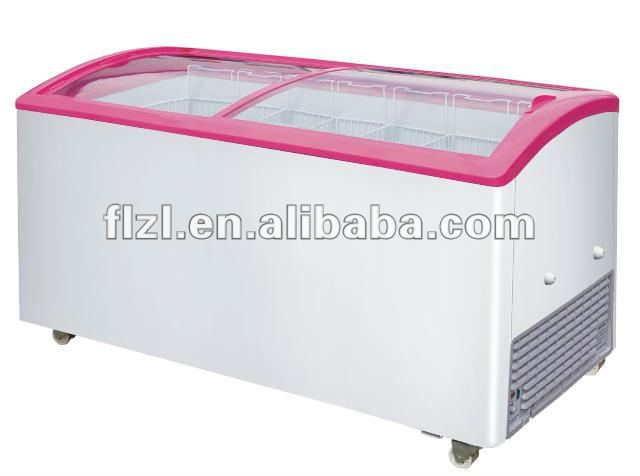 575l Curved Glass Door Freezer Sd-575