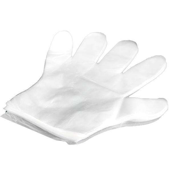 100 Clear Disposable Plastic Gloves Sanitary Restaurant Home BBQ Cook