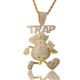 2019 new hiphop charms gold plating money bag pendant for jewelry making