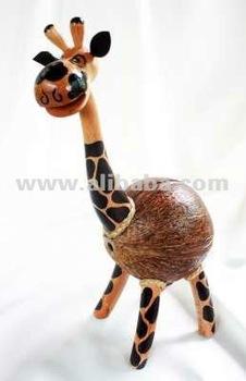 coconut shell giraffe lamp savings coconut shell lamp supplier exporter from thailand - Giraffe Lamp