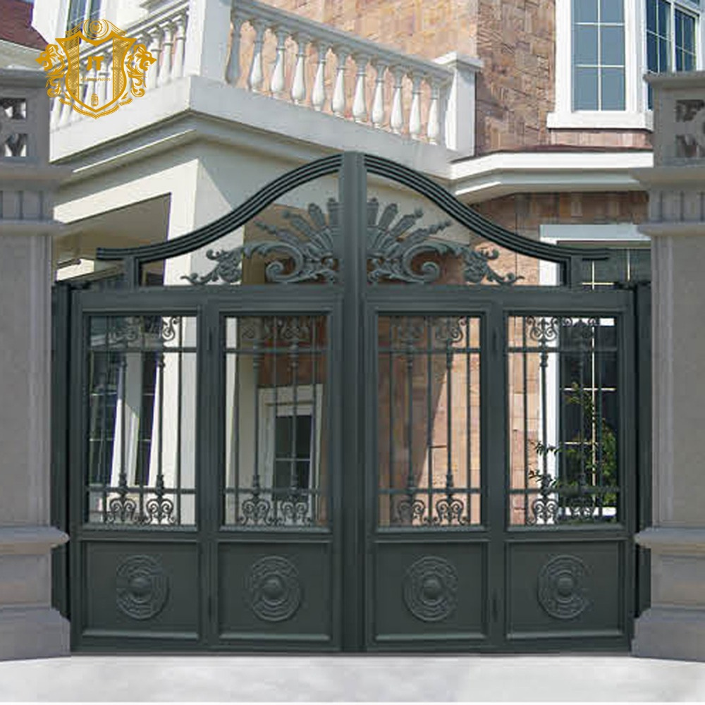 Wrought Iron Side Gates/latest Main Gate Design - Buy New Design Iron  Gate,Sliding Iron Main Gate Design,Wrought Iron Grill Gate Design Product  on