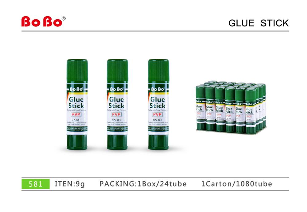 Top quality stationery non-toxic 9g PVP glue stick Adhesivo en barra