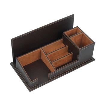 Leather desktop organizer stationery desk set buy - Leather desk organizer set ...