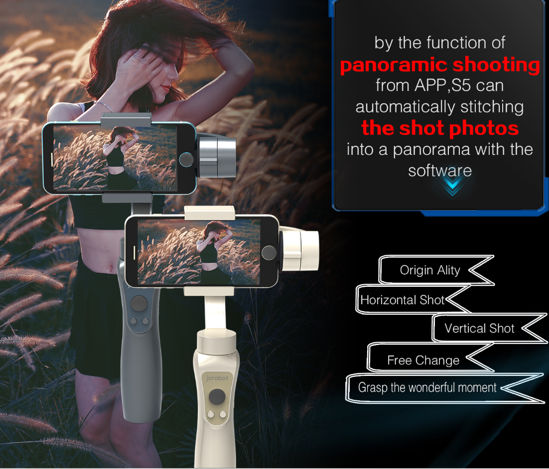 2019 hot sale3 Axis Handheld Smartphone Gimbal Action Camera Stabilizer with Lightweight Flexibility Bluetooth Connecting APP