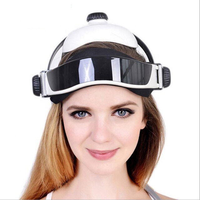Free shipping wholesale new generation 9DNLS body health analyzer with massager helmet