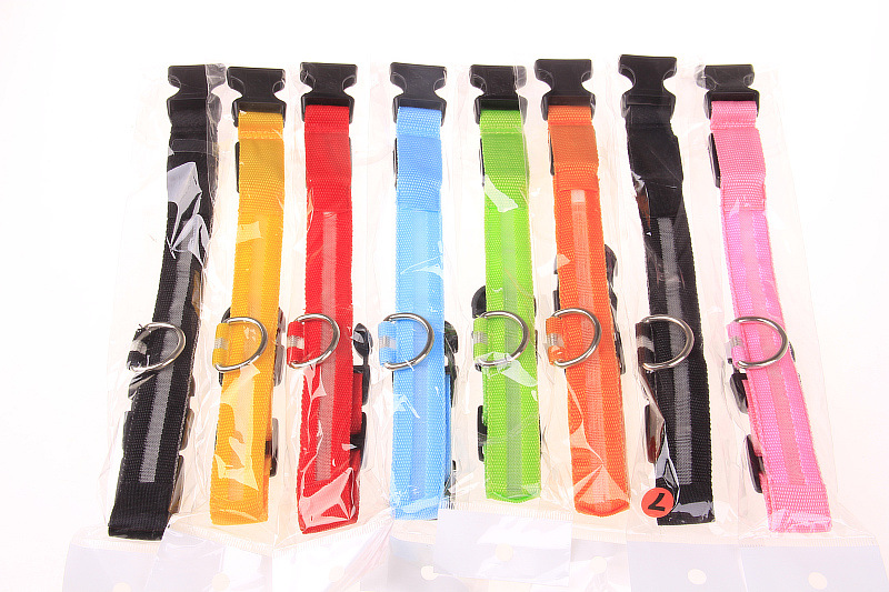 Many Colors Available High Quality LED Pet Collar For Small Size  Pet Colla for Puppy Medium Large dogs Glowing in the dark