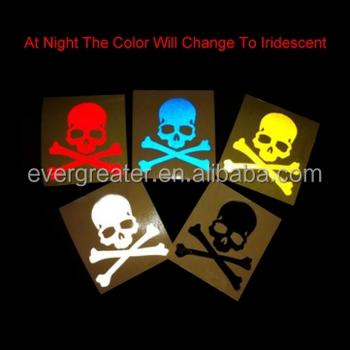 Custom reflective sticker diecut label sheet blankcustom car window stickers