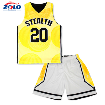 Popular and the newest custom brand basketball sublimation clothing