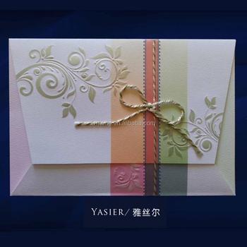 Muslim Design Luxury Handmade Wedding Invitation Paper Card With