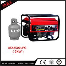 Best Ssller!!! Home Use LPG Gas Generator Portable 2KW