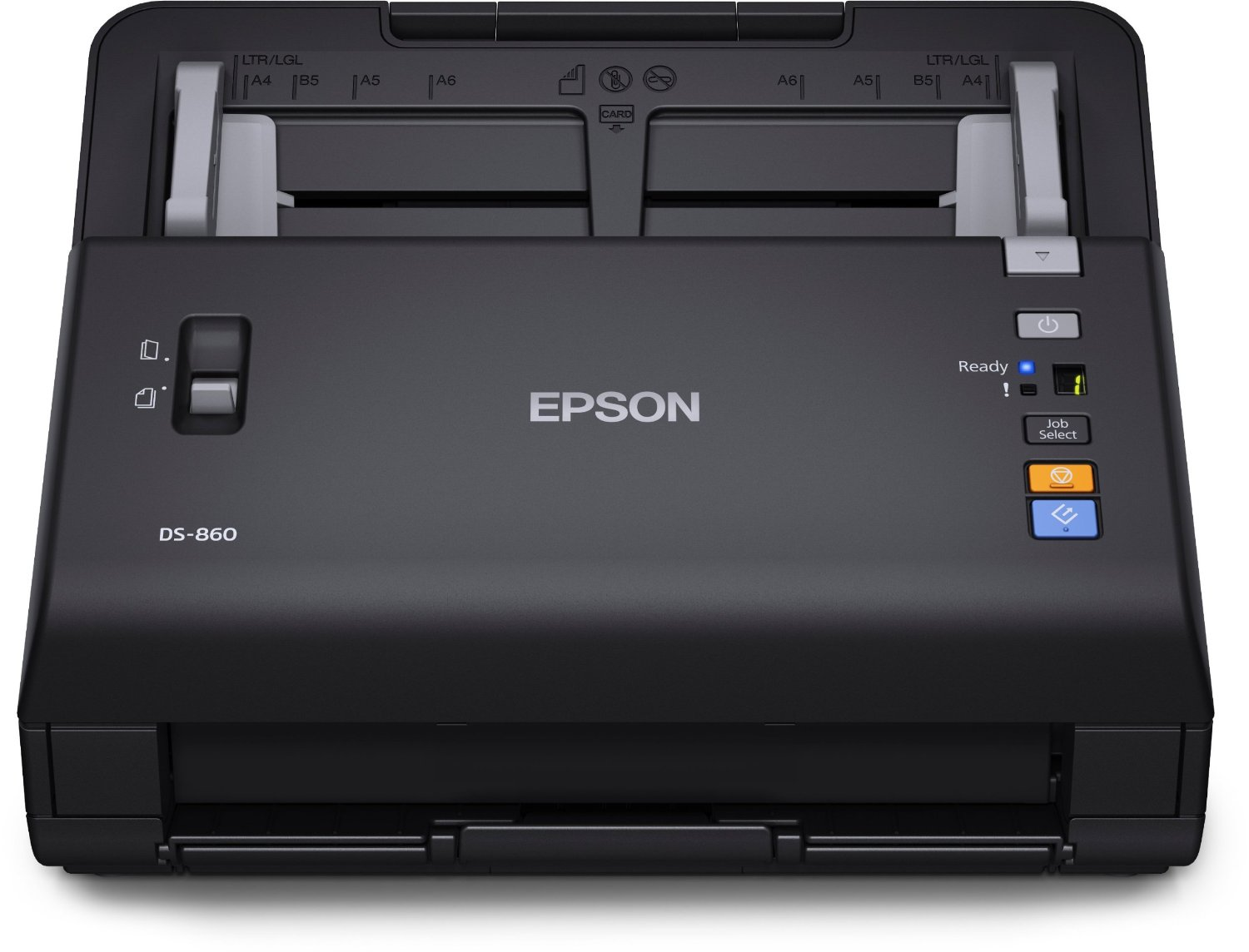 Epson WorkForce DS-860 Wireless Color Document Scanner, 65ppm/130ipm (at 30dpi), 600dpi Optical/75-1200 dpi Output, 80 Sheets ADF, USB 2.0