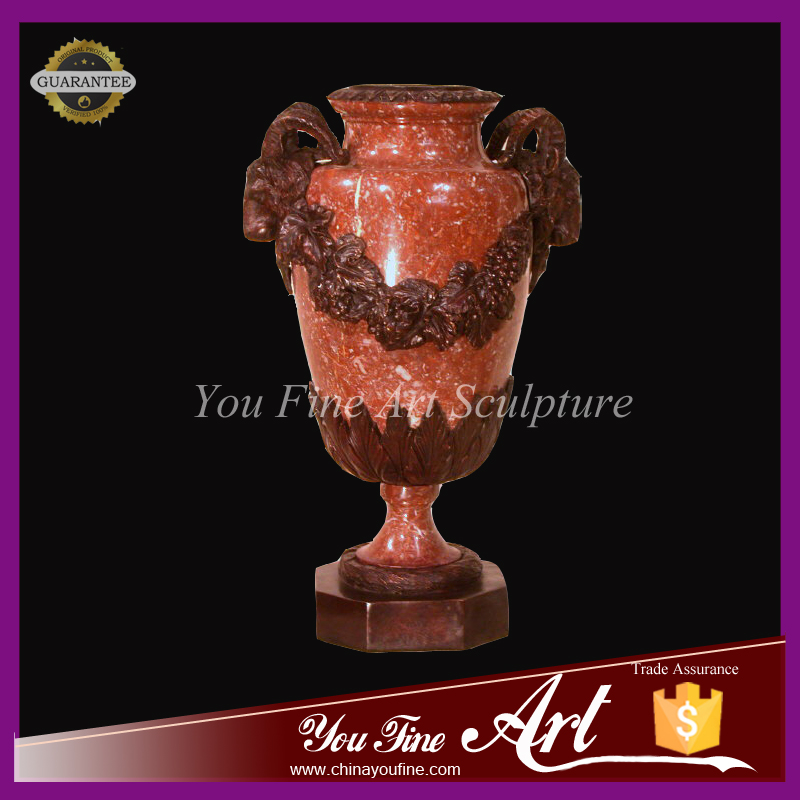 custom red marble flower pot for garden