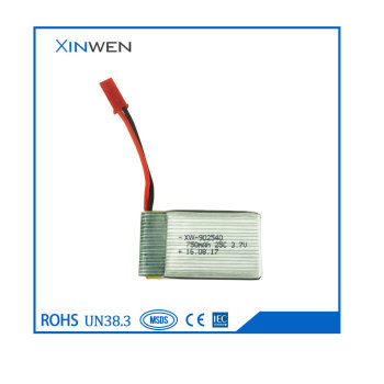 XW 902540 25C 750mAh 3.7v rc helicopter battery