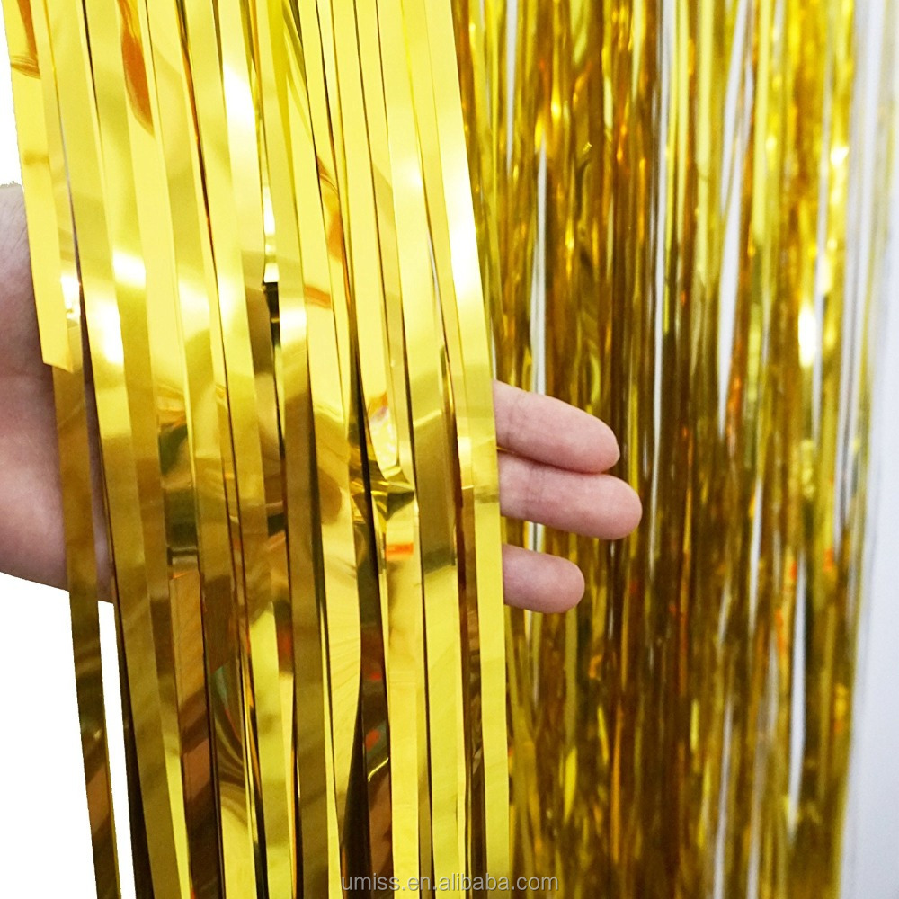 Umiss Umiss Metallic Folie Gold Gordijn Achtergrond voor Partijen, Podium, en Evenement Decoraties Photo Booth Decoraties