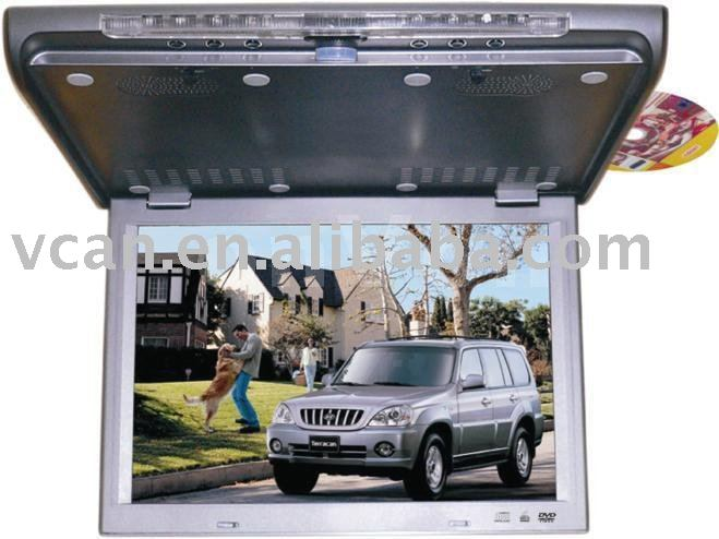 15.4 Flip down TFT LCD monitor with built-in DVD/MPEG4