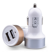 dual Ports High Speed Car Charger 5V2.1a car Adapter for Mobile Phone & Other USB Device