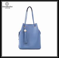 2016 fashion women bucket bag ladies leather handbag manufacturers