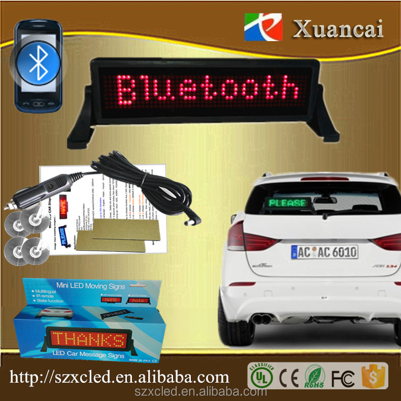 Android mobile phone Bluetooth app quickly editing Car glass window Advertising LED sign