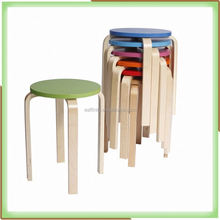 KS-14 Chinese Credible Supplier Bentwood Wooden Stools For Sale