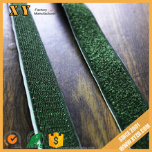 custom shape and width army green nylon/polyster strong sticky adhesive hook and loop tape/dots/coins