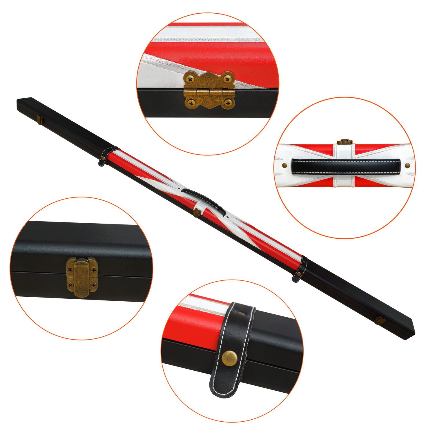 One Shaft One Butt Nylon Cue Case for Snooker & Pool cue case