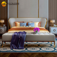 Custom muebles dormitorio modern leather bed for bedroom furniture