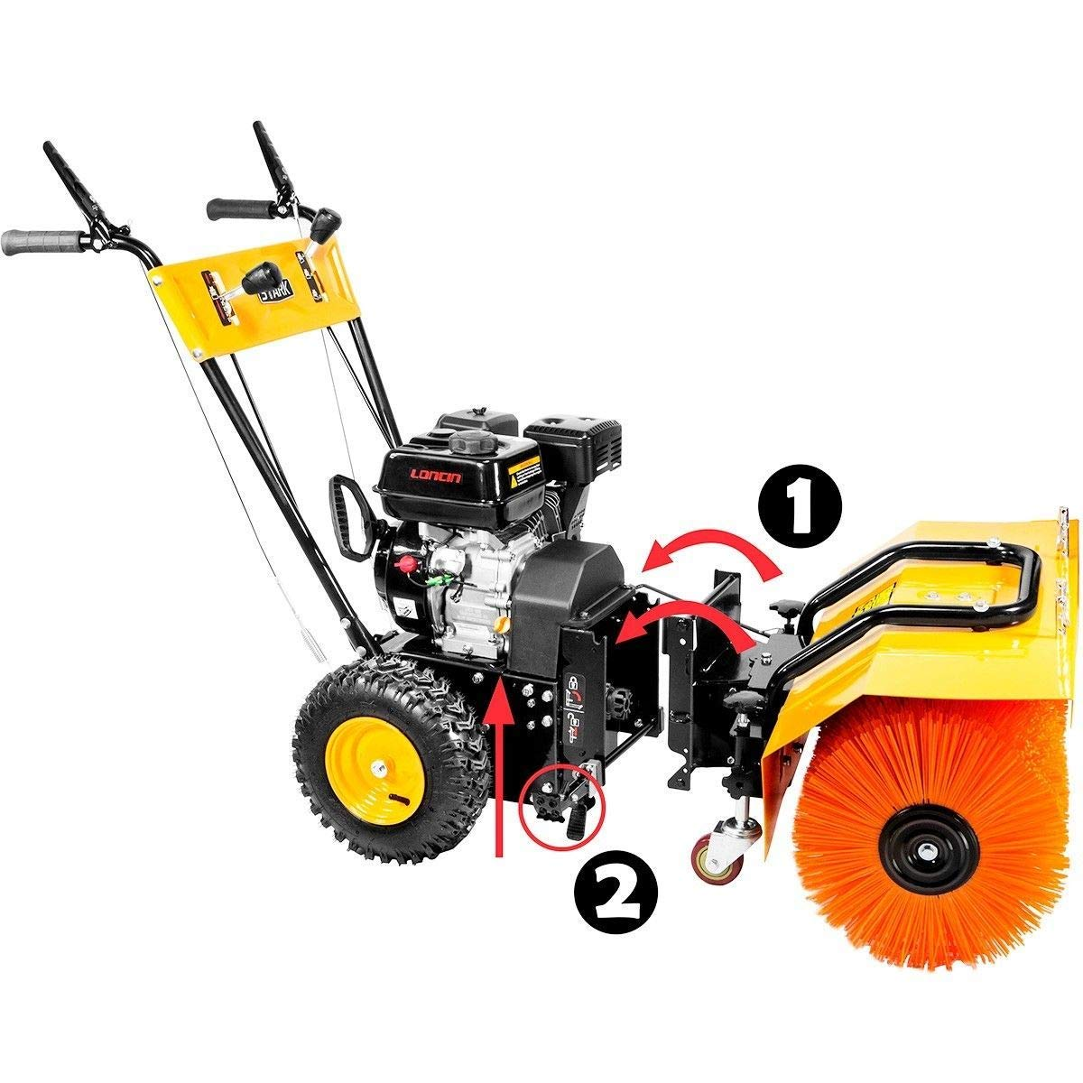 "KCHEX>31"" Walk Behind self propels Snow Sweeper Brush 24"" ice Blade Blower Gas Engine>2 in 1 Multi-Function Sweeper/Blower Perfect for homeowners who Need a Medium Size Snow Sweeper"